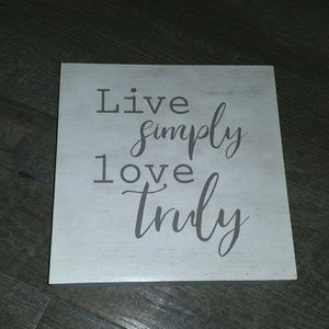 Other - NWT Farmhouse Live Simply Wall or Shelf Sign Art